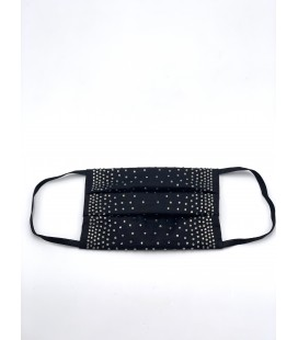 Mascherina riutilizzabile con strass degrade Black diamond
