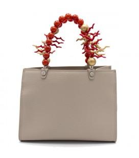 Shopping medium coral red
