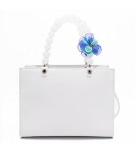 Shopping medium flower blu