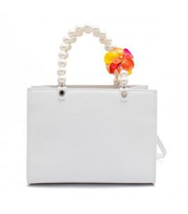 Shopping medium pearl & flower