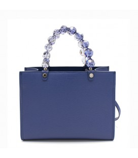 Shopping media crystal blue