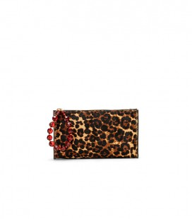 Sacher Pony clutch ruby