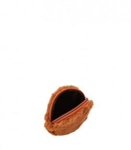 Faux fur purse