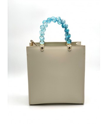 Shopping vertical crystal turquoise