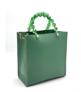Shopping verticale crystal verde